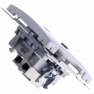 Simon Basic BMAD1.01/11 - Gniazdo antenowe TV-DATA, dwa porty wyjściowe typu F - Biały - Podgląd zdjęcia 360st. nr 3