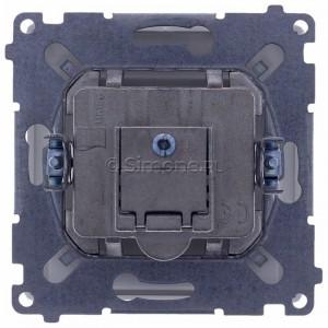 Simon Basic BMAD1.01/11 - Gniazdo antenowe TV-DATA, dwa porty wyjściowe typu F - Biały - Podgląd zdjęcia 360st. nr 9