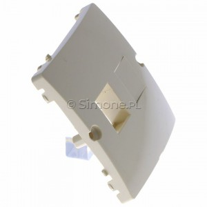 Simon Basic BMGK1P/11 - Pokrywa podwójna płaska do wkładu gniazda telefonicznego bez mostka - Biały - Podgląd zdjęcia 360st. nr 2