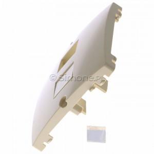 Simon Basic BMGK1P/11 - Pokrywa podwójna płaska do wkładu gniazda telefonicznego bez mostka - Biały - Podgląd zdjęcia 360st. nr 6