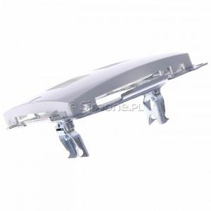 Simon Basic BMPT/11 - Pokrywa podwójna płaska do wkładu gniazda telefonicznego z mostkiem - Biały - Podgląd zdjęcia 360st. nr 5