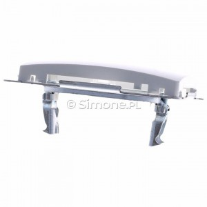 Simon Basic BMPT/11 - Pokrywa podwójna płaska do wkładu gniazda telefonicznego z mostkiem - Biały - Podgląd zdjęcia 360st. nr 4