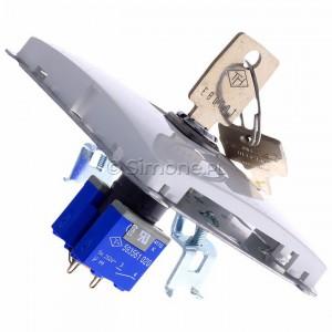 Simon Basic BMPZK.01/11 - Łącznik żaluzjowy na kluczyk chwilowy zwierny 3 pozycyjny I-0-II - Biały - Podgląd zdjęcia 360st. nr 3