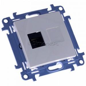 Simon 10 C51.01/11 - Gniazdo komputerowe pojedyncze RJ45 kat. 5 - Biały - Podgląd zdjęcia 360st. nr 1