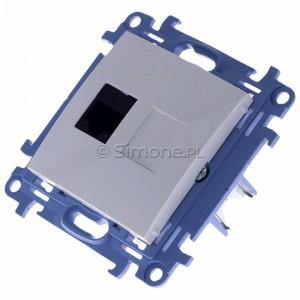Simon 10 C51.01/11 - Gniazdo komputerowe pojedyncze RJ45 kat. 5 - Biały - Podgląd zdjęcia 360st. nr 7