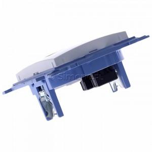 Simon 10 C51.01/11 - Gniazdo komputerowe pojedyncze RJ45 kat. 5 - Biały - Podgląd zdjęcia 360st. nr 5