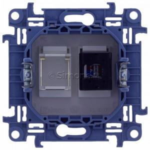 Simon 10 C51.01/11 - Gniazdo komputerowe pojedyncze RJ45 kat. 5 - Biały - Podgląd zdjęcia 360st. nr 9