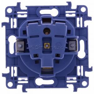Simon 10 CGZ1B.01/11 - Gniazdo hermetyczne z bolcem uziemiającym, uszczelką ramki i klapką w kolorze wyrobu - Biały - Podgląd zdjęcia 360st. nr 9