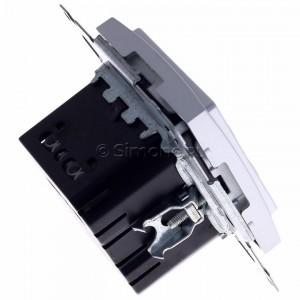 Simon 54 D75817.01/43 - Termostat elektroniczny programowalny z wyświetlaczem i wewnętrznym czujnikiem temperatury - Srebrny Mat - Podgląd zdjęcia 360st. nr 3