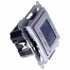 Simon 54 D75817.01/43 - Termostat elektroniczny programowalny z wyświetlaczem i wewnętrznym czujnikiem temperatury - Srebrny Mat - Podgląd zdjęcia 360st. nr 2