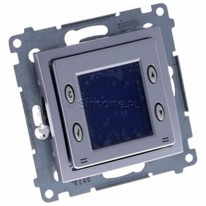 Simon 54 D75817.01/43 - Termostat elektroniczny programowalny z wyświetlaczem i wewnętrznym czujnikiem temperatury - Srebrny Mat - Podgląd zdjęcia 360st. nr 1