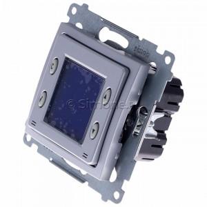 Simon 54 D75817.01/43 - Termostat elektroniczny programowalny z wyświetlaczem i wewnętrznym czujnikiem temperatury - Srebrny Mat - Podgląd zdjęcia 360st. nr 7