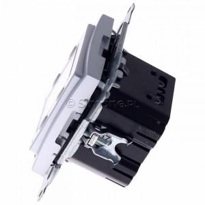 Simon 54 D75817.01/43 - Termostat elektroniczny programowalny z wyświetlaczem i wewnętrznym czujnikiem temperatury - Srebrny Mat - Podgląd zdjęcia 360st. nr 6