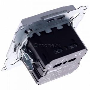 Simon 54 D75817.01/43 - Termostat elektroniczny programowalny z wyświetlaczem i wewnętrznym czujnikiem temperatury - Srebrny Mat - Podgląd zdjęcia 360st. nr 5