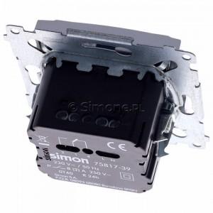 Simon 54 D75817.01/43 - Termostat elektroniczny programowalny z wyświetlaczem i wewnętrznym czujnikiem temperatury - Srebrny Mat - Podgląd zdjęcia 360st. nr 4