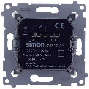 Simon 54 D75817.01/43 - Termostat elektroniczny programowalny z wyświetlaczem i wewnętrznym czujnikiem temperatury - Srebrny Mat - Podgląd zdjęcia 360st. nr 9