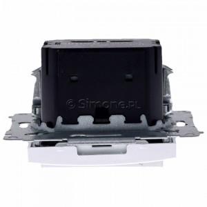 Simon 54 D75817.01/43 - Termostat elektroniczny programowalny z wyświetlaczem i wewnętrznym czujnikiem temperatury - Srebrny Mat - Podgląd zdjęcia 360st. nr 8