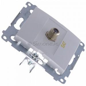 Simon 54 DASF1.01/11 - Gniazdo antenowe SAT typu F pojedyncze - Biały - Podgląd zdjęcia 360st. nr 2