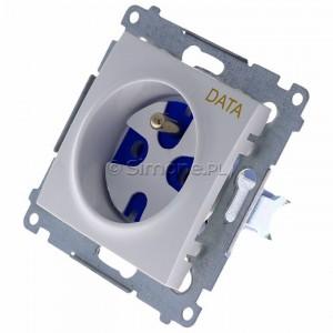 Simon 54 DGD1.01/11 - Gniazdo DATA z bolcem uziemiającym i kluczem uprawniającym - Biały - Podgląd zdjęcia 360st. nr 7