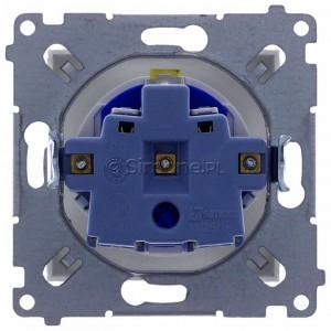 Simon 54 DGD1.01/11 - Gniazdo DATA z bolcem uziemiającym i kluczem uprawniającym - Biały - Podgląd zdjęcia 360st. nr 9