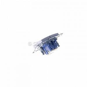 Simon 54 DP2.01/43 - Przycisk zwierny podwójny - Srebrny Mat - Podgląd zdjęcia 360st. nr 5