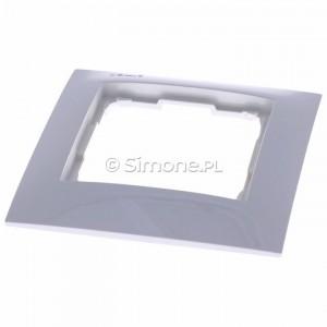 Simon 54 Premium DR1/11 - Ramka pojedyncza - Biały - Podgląd zdjęcia 360st. nr 4