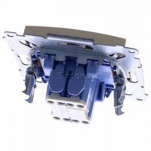 Simon 54 DW1L.01/44 - Łącznik pojedynczy z podświetleniem typu LED w kolorze niebieskim 10A - Złoty Mat - Podgląd zdjęcia 360st. nr 4