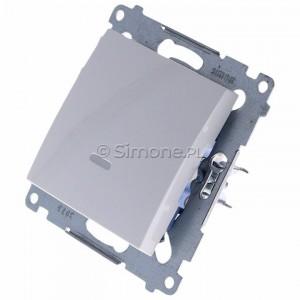Simon 54 DW1ZL.01/11 - Łącznik pojedynczy z sygnalizacją załączenia LED 10A - Biały - Podgląd zdjęcia 360st. nr 7