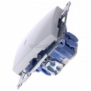 Simon 54 DW1ZL.01/11 - Łącznik pojedynczy z sygnalizacją załączenia LED 10A - Biały - Podgląd zdjęcia 360st. nr 6