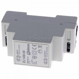 Simon 54 ZL14M-08 - Zasilacz LED modułowy 14V, DC, 8W - Podgląd zdjęcia 360st. nr 4